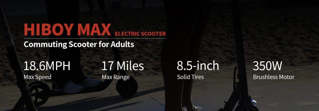 Performance of Hiboy MAX electric scooter
